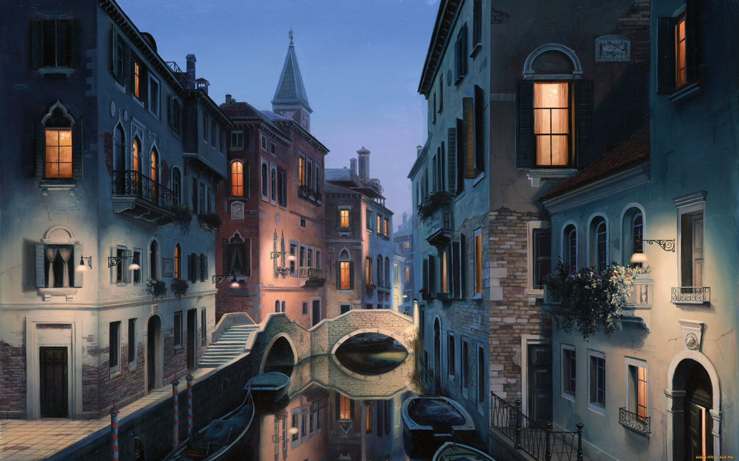обои город рисунок мир был
